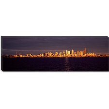 <strong>iCanvasArt</strong> City Viewed from Alki Beach, Seattle, King County, Washington State Canvas Wall Art