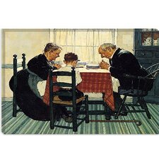 "<strong>iCanvasArt</strong> ""Family Grace (Pray)"" Canvas Wall Art by Norman Rockwell"