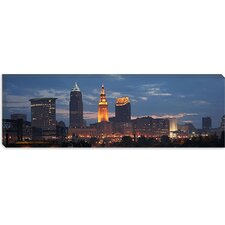 <strong>iCanvasArt</strong> Cleveland Panoramic Skyline Cityscape Canvas Wall Art