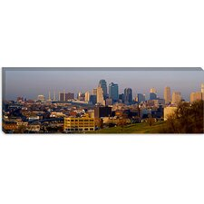 High Angle View of a Cityscape, Kansas City, Missouri Canvas Wall Art