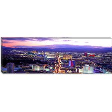 <strong>iCanvasArt</strong> Dusk Las Vegas Nevada Canvas Wall Art
