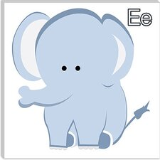 <strong>iCanvasArt</strong> E is for Elephant Canvas Wall Art
