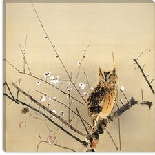 <strong>iCanvasArt</strong> Early Plum Blossoms Canvas Wall Art by Nishimura Goun
