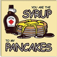 <strong>iCanvasArt</strong> You are The Syrup To My Pancakes Canvas Wall Art