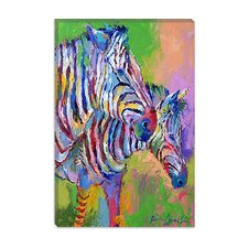 'Zebra' by Richard Wallich Painting Print on Canvas