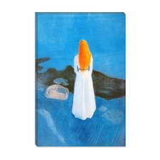 """Young Woman on the Beach"" Canvas Wall Art By Edvard Munch"
