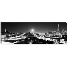 <strong>iCanvasArt</strong> San Francisco Panoramic Skyline Cityscape (Night) Canvas Wall Art