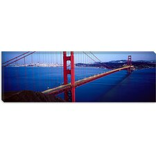 <strong>iCanvasArt</strong> San Francisco Panoramic Skyline Cityscape (Golden Gate Bridge) Canvas Wall Art