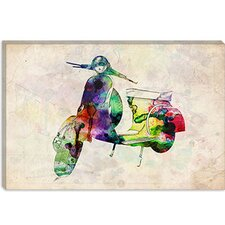 "<strong>iCanvasArt</strong> ""Scooter Vespa (Urban)"" by Michael Thompsett"