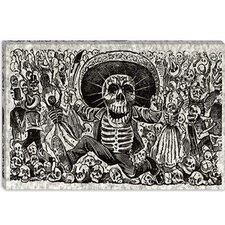 "<strong>iCanvasArt</strong> ""Skeletons - Calavera from Oaxaca"" Canvas Wall Art by José Guadalupe Posada"