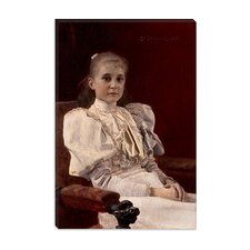 "<strong>iCanvasArt</strong> ""Seated Young Girl"" Canvas Wall Art by Gustav Klimt"