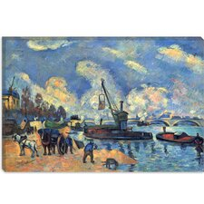"""Seine at Bercy"" Canvas Wall Art by Paul Cezanne"