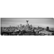 <strong>iCanvasArt</strong> Seattle Panoramic Skyline Cityscape Canvas Wall Art