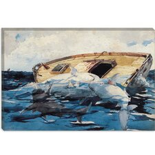 """Sharks (The Derelict) 1885"" Canvas Wall Art by Winslow Homer"