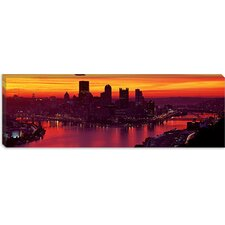 <strong>iCanvasArt</strong> Three Rivers Stadium, Pittsburgh, Allegheny County, Pennsylvania Canvas Wall Art
