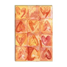 "<strong>iCanvasArt</strong> ""Sensitive Hearts"" Canvas Wall Art by Maria Trad"