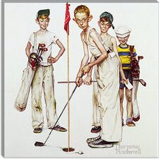 "<strong>iCanvasArt</strong> ""Missed (Four Sporting Boys: Golf)"" Canvas Wall Art by Norman Rockwell"