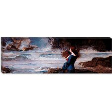 "<strong>iCanvasArt</strong> ""Miranda, the Tempest"" Canvas Wall Art by John William Waterhouse (Panoramic)"