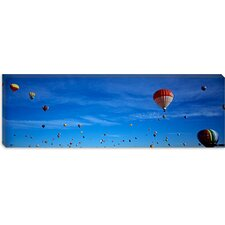 <strong>iCanvasArt</strong> Low Angle View of Hot Air Balloons, Albuquerque, New Mexico Canvas Wall Art