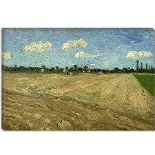 "<strong>iCanvasArt</strong> ""Ploughed Fields (The Furrows)"" Canvas Wall Art by Vincent van Gogh"