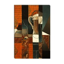 "<strong>iCanvasArt</strong> ""Playing Cards and Glass of Beer"" Canvas Wall Art by Juan Gris"