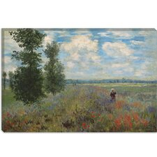 """Poppy Fields Near Argenteuil 1875"" Canvas Wall Art by Claude Monet"