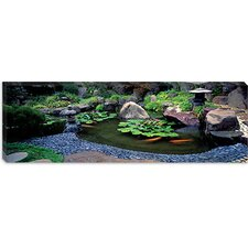 Japanese Garden, University of California, Los Angeles, California Canvas Wall Art