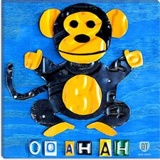 <strong>iCanvasArt</strong> Oo Ah Ah the Monkey from Design Turnpike Canvas Wall Art