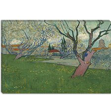 "<strong>iCanvasArt</strong> ""Orchards in Blossom with View of Arles"" Canvas Wall Art by Vincent van Gogh"