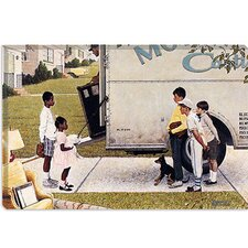 "<strong>iCanvasArt</strong> ""Moving in (New Kids In The Neighborhood)"" Canvas Wall Art by Norman Rockwell"