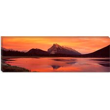 <strong>iCanvasArt</strong> Mt Rundle and Vermillion Lakes Banff National Park Alberta Canada Canvas Wall Art