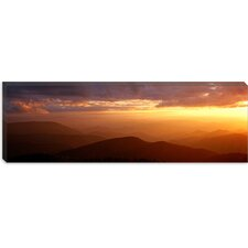 Sunset on Blue Ridge Parkway , Great Smoky Mountains, North Carolina Canvas Wall Art