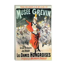 <strong>iCanvasArt</strong> Musee Grevin Les Dames Hongroises Advertising Vintage Poster Canvas Wall Art