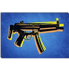"<strong>iCanvasArt</strong> ""MP5 Sub Machine Gun"" Canvas Wall Art by Michael Thompsett"
