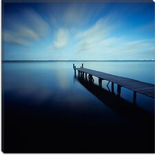 "<strong>iCanvasArt</strong> ""Muelle Azul Crop"" Canvas Wall Art by Moises levy"