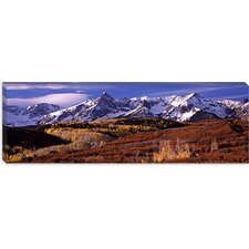 Mountains Covered with Snow, Telluride, Colorado Canvas Wall Art