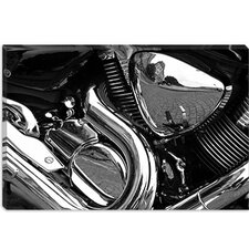 <strong>iCanvasArt</strong> Motorcycle Engine Grayscale ll Canvas Wall Art