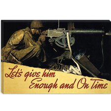 """Let's Give Him Enough and on Time"" Canvas Wall Art by Norman Rockwell"