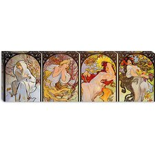 """Les Saisons"" Panoramic by Alphonse Mucha"