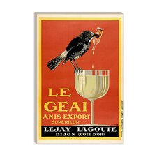 <strong>iCanvasArt</strong> Le Geai Anis Export Advertising Vintage Poster Canvas Wall Art