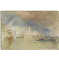 "<strong>iCanvasArt</strong> ""Looking Towards the Dogana and San Giorgio Maggiore, with a Storm Approaching, Venice 1834"" Canvas Wall Art by Joseph William Turner"