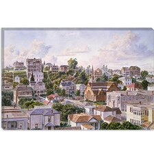 "<strong>iCanvasArt</strong> ""Los Angeles, Bunker Hill from Congretional Church California 1898"" Canvas Wall Art by Stanton Manolakas"