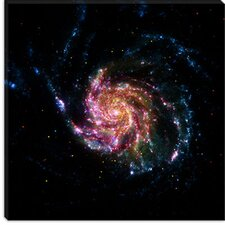 <strong>iCanvasArt</strong> Pinwheel Galaxy M101 (Spitzer Space Observatory) Canvas Wall Art
