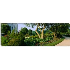 <strong>iCanvasArt</strong> Bahai Temple Gardens, Bahai House of Worship, Chicago Illinois Canvas Wall Art
