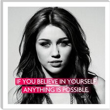 <strong>iCanvasArt</strong> Miley Cyrus Quote Canvas Wall Art