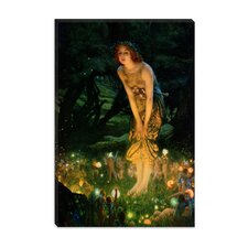 "<strong>iCanvasArt</strong> ""Midsummer Eve, C.1908"" Canvas Wall Art by Edward Robert Hughes"