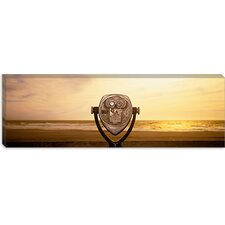 <strong>iCanvasArt</strong> Mechanical Viewer, Pacific Ocean, California Canvas Wall Art
