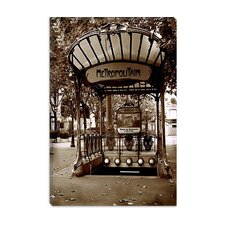 "<strong>iCanvasArt</strong> ""Metropolitain (Paris)"" Canvas Wall Art by Christopher Bliss"