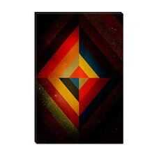 <strong>iCanvasArt</strong> Mid Century Modern Diamond Color Composition ll (after Kandisnky) Canvas Wall Art