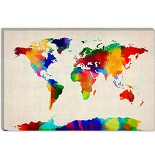 "<strong>iCanvasArt</strong> ""Map of The World IV"" Cancas Wall Art by Michael Thompsett"
